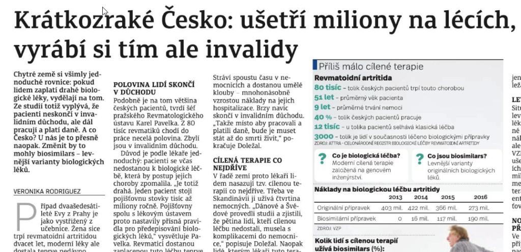 Krátkozraké česko: Ušetří miliony na lécích, vyrábí si tím ale invalidy