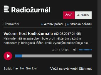 Večerní Host Radiožurnálu - prof. Mudr. Milan Lukáš, CSc.